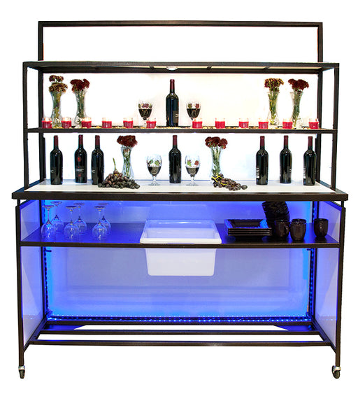Smart BackBar PLUS- High End Light Up deluxe portable BackBar & Shelves