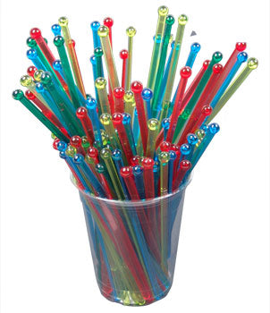 "BarConic® Ball Head Stirrers - 6"" - Color Options - Pack of 500"