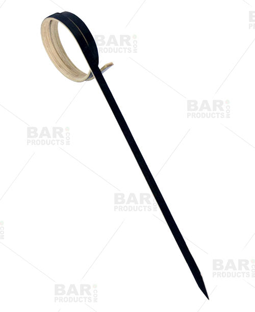 Ring Bamboo Cocktail Picks - 100 Pack - Black