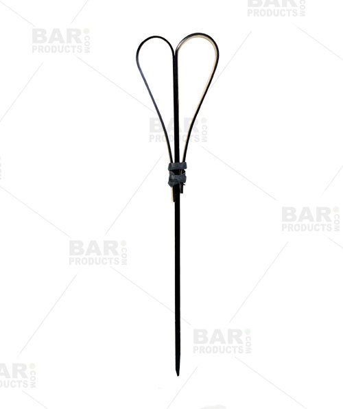 Heart Bamboo Cocktail Picks - 100 Pack - Black