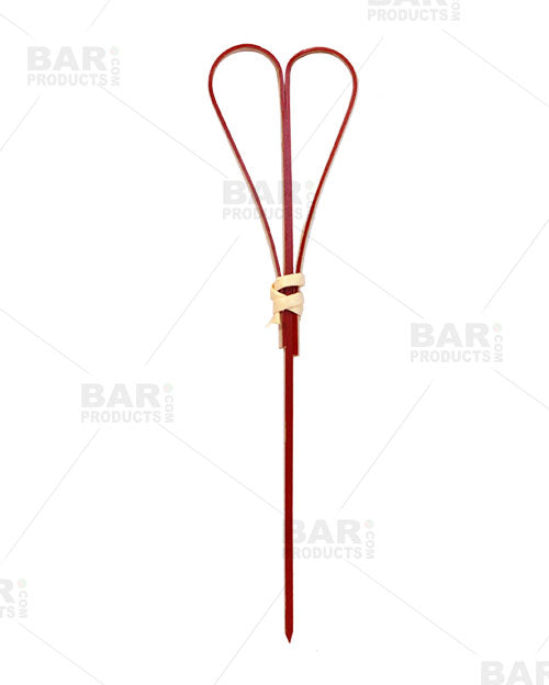 Heart Bamboo Cocktail Picks - 100 pack - Red