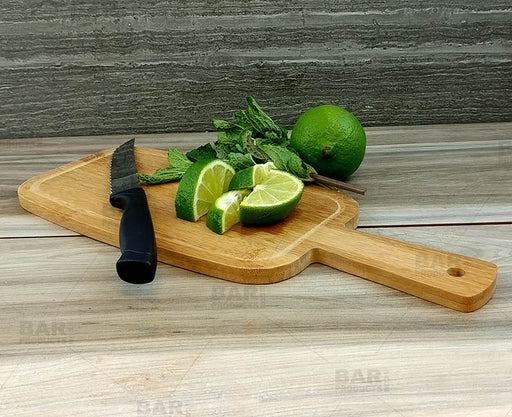 Bamboo Cutting Paddle - Mini - w/Juice Border