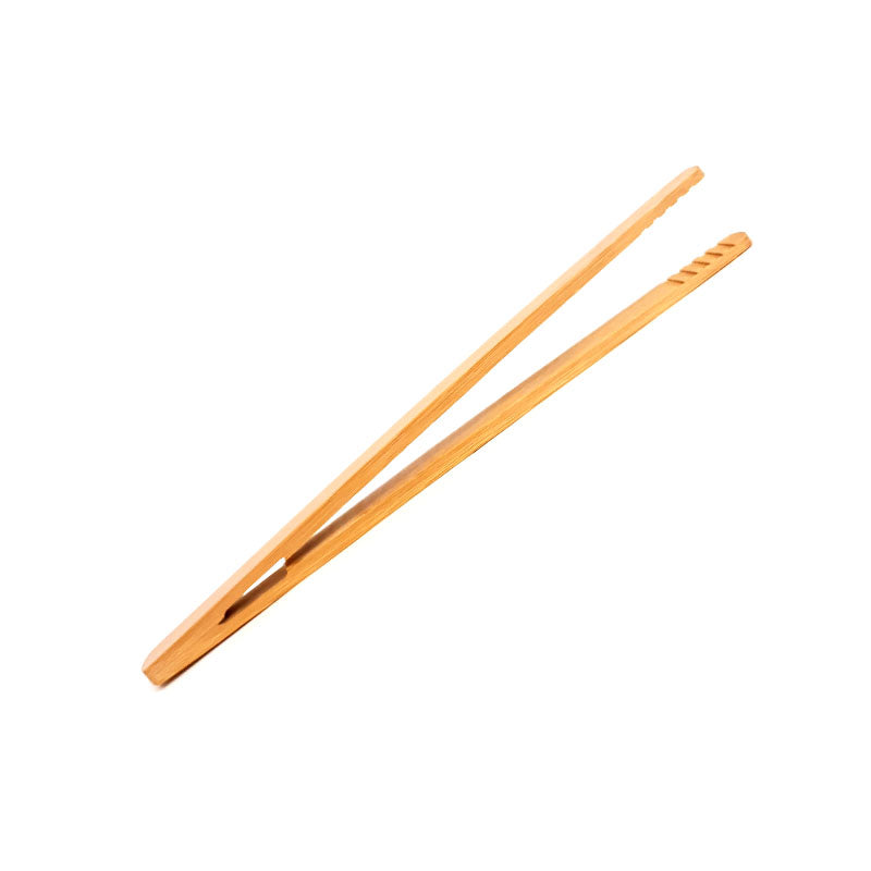 BarConic® Bamboo Tongs w/grip - 7 inch