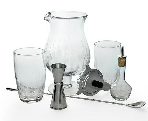 BarConic® Feather Etched Bar Kit w/44oz Stemmed Mixing Glass