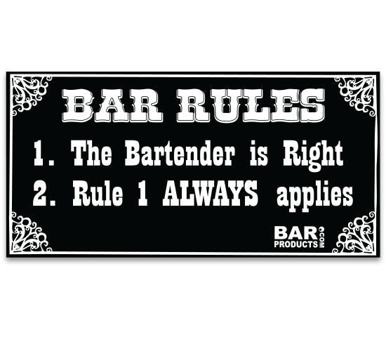 Free Sticker - Bar Rules