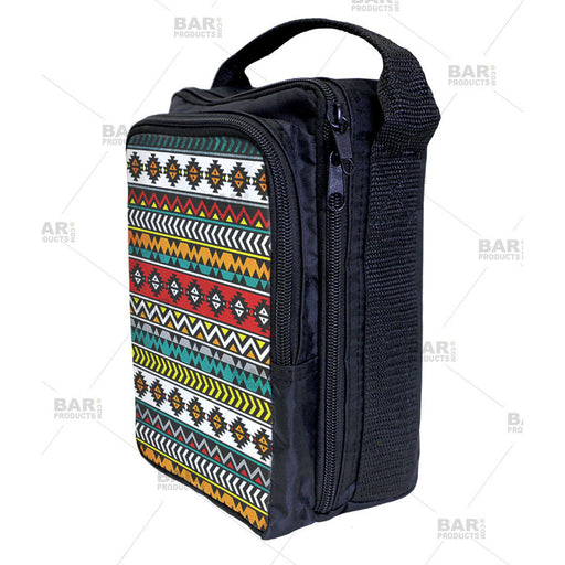 geometric aztec pattern bartending tool tote bag for bartenders.