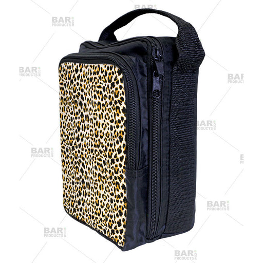 orange cheetah animal print pattern bartending tool tote bag for bartenders.