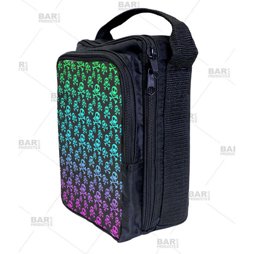 cute girly skull pattern bartending tool tote bag for bartenders.