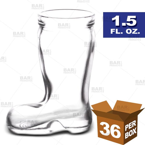 BarConic® Mini Boot Shot Glass - 1.5 oz [Box of 36]