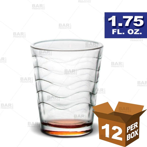 BarConic® Orange Wave Shot Glass - 1.75 oz [Box of 12]