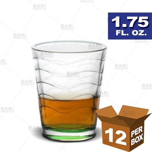 BarConic® Green Wave Shot Glass - 1.75 oz [Box of 12]
