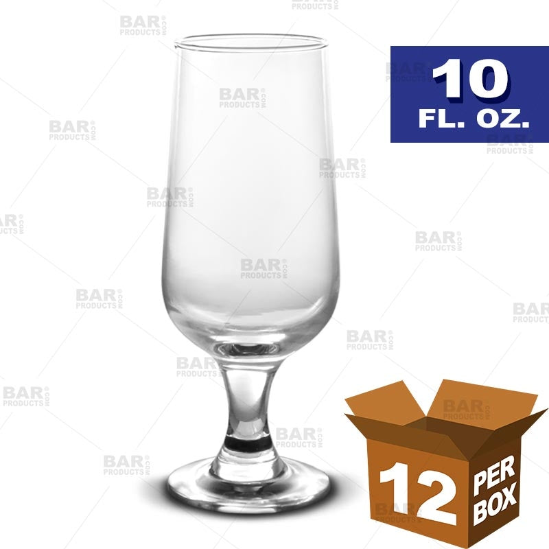 BarConic® Footed Beer Glass - 10 oz [Box of 12]