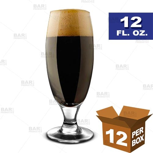BarConic® Footed Beer Glass - 12 oz [Box of 12]