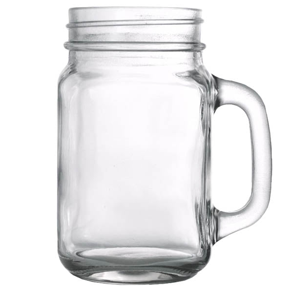 Custom Design Mason Jars with Handles 16.5oz - LIDS SOLD SEPERATELY
