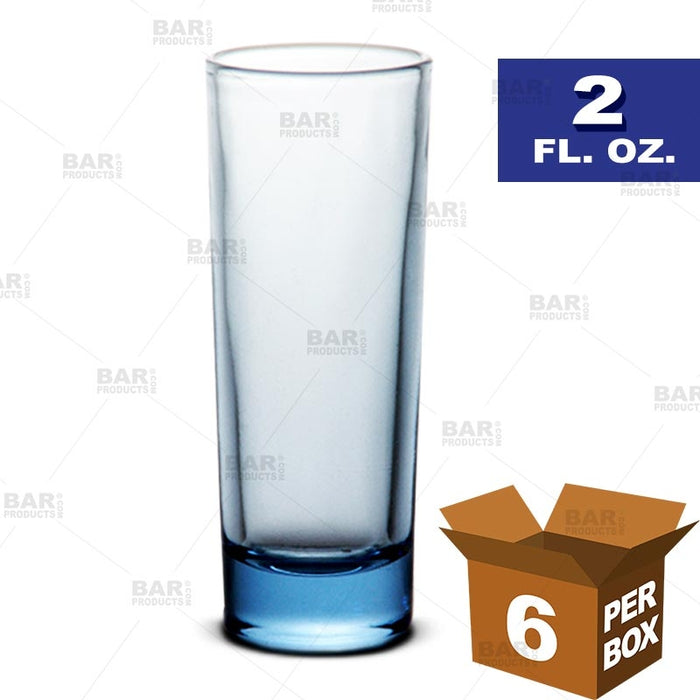 BarConic® Light Blue Shot Glass - 2 oz [Box of 6]