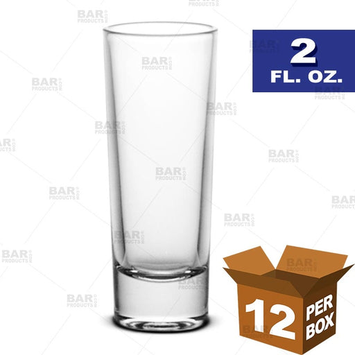 BarConic® Tall Shot Glass - 2 oz [Box of 12]