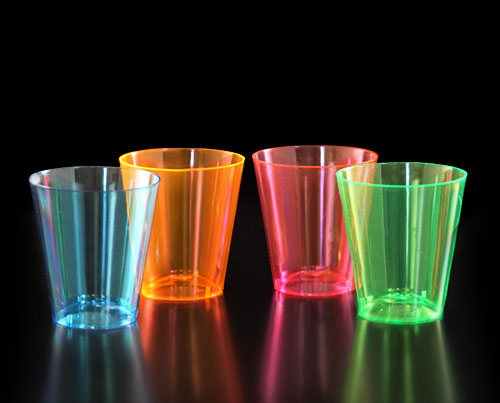 BarConic® 2 Ounce Neon Shot Cups - Assorted Colors