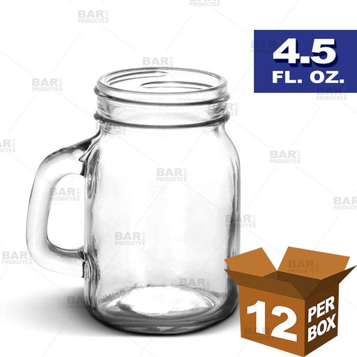 BarConic® Mason Jar with Handle - 4.5 oz [Box of 12]