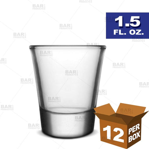 BarConic® Clear Thick Base Shot Glass - 1.5 oz [Box of 12]