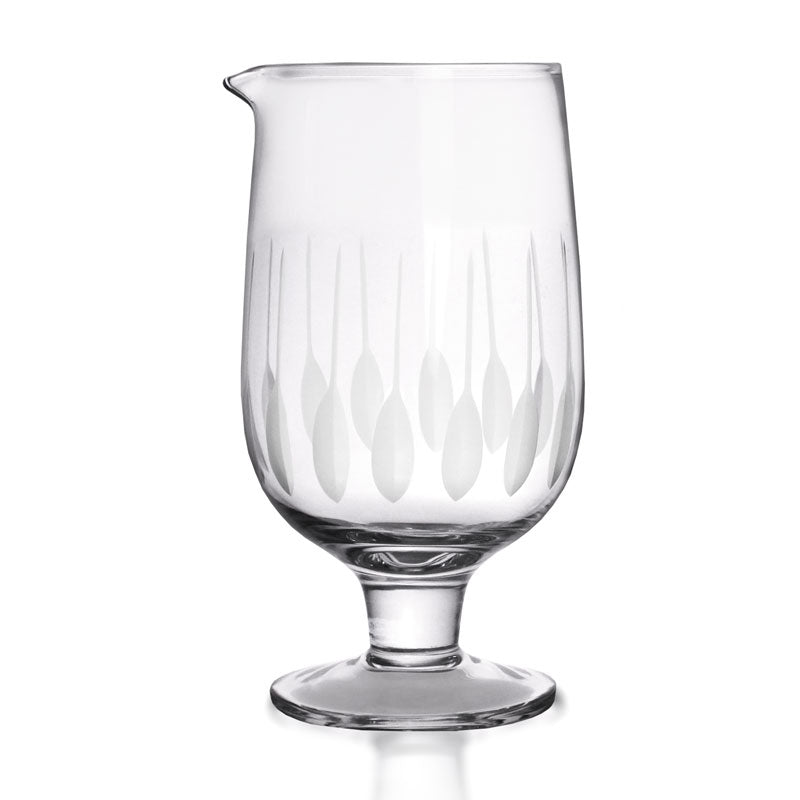 BarConic® Feather Etched Stemmed Mixing Glass - Small
