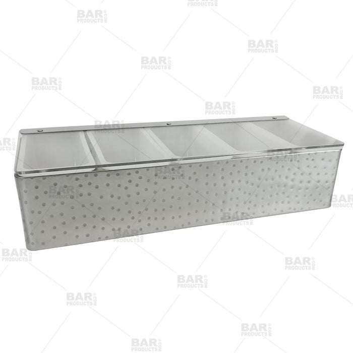Barconic Hammered Stainless Steel Condiment Holder 5 Pint Bar Products