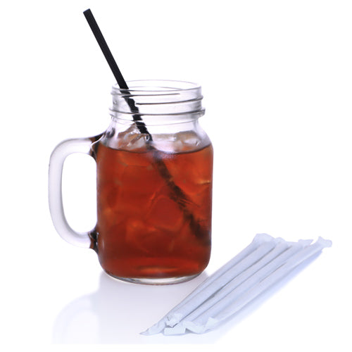 BarConic® Individually Wrapped Beverage Straws – 500 Pack