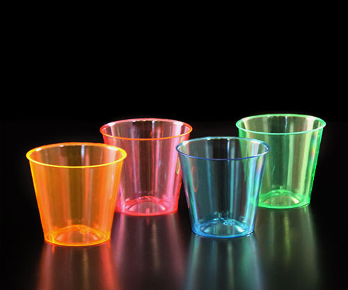 BarConic® 1 Ounce Neon Shot Cups - Assorted Colors