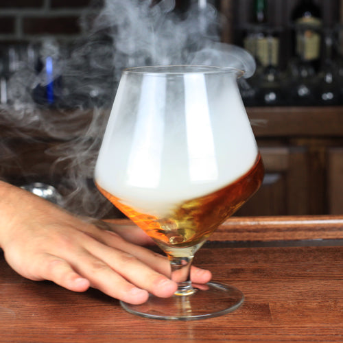 BarConic® Vortex Stemmed Mixing Glass - Smoking a Cocktail