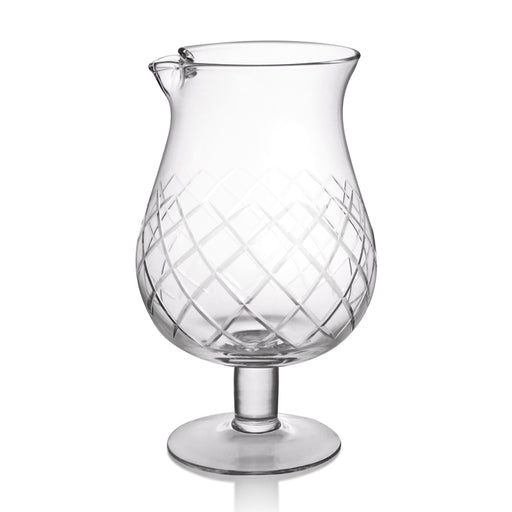 Stemmed Diamond Pattern Mixing Glass - Elegant Pattern