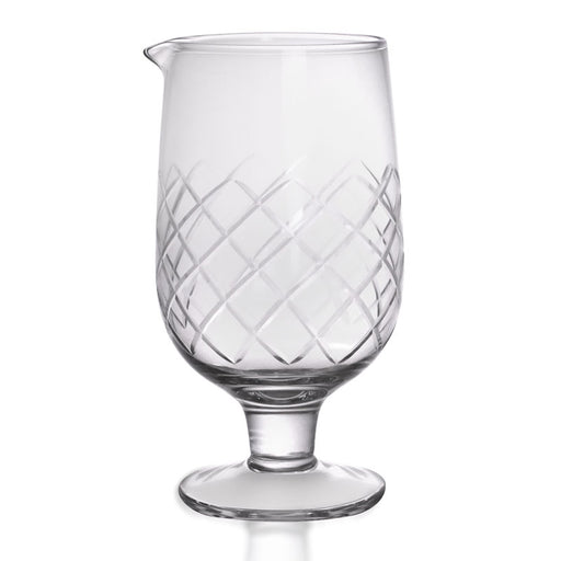 BarConic® Stemmed Diamond Pattern Mixing Glass - Small
