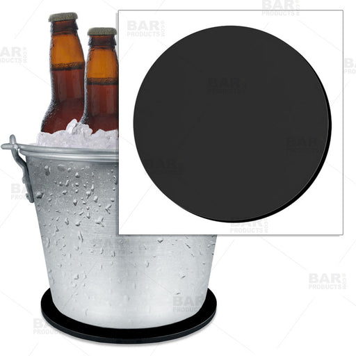 "Beer Bucket Coaster - Black - 8.75"" Diameter (Reuseable)"