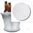 "Beer Bucket Coaster - Plain White - 8.75"" Diameter"