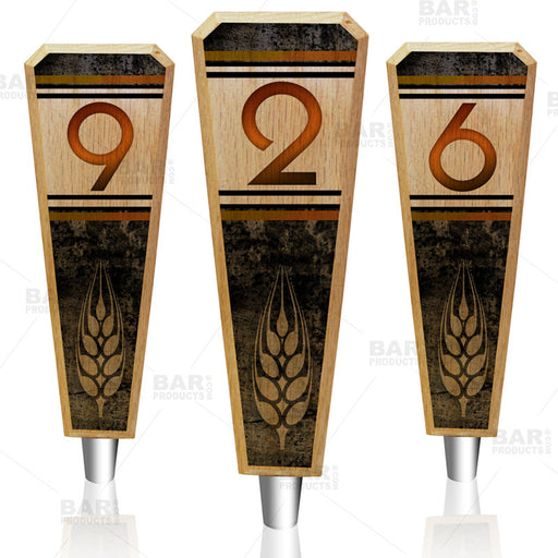Numbered Beer Tap Handles - Oak Wood - Classy Hops