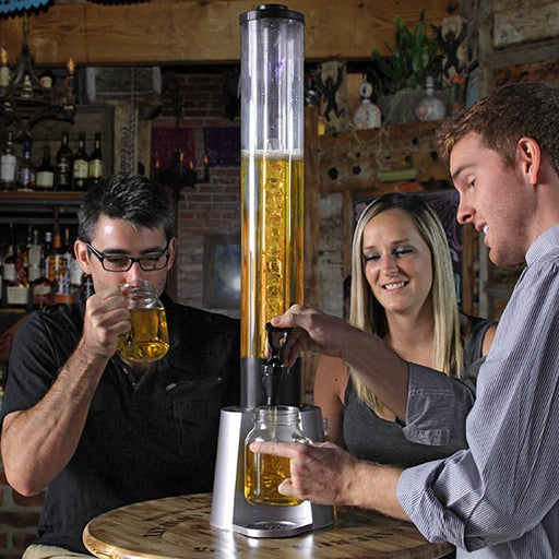 Beer Tower with Ice Tube and Cup Holder - 3 Liter