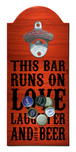 Beer Wooden Bottle Opener with Magnetic Cap Catcher