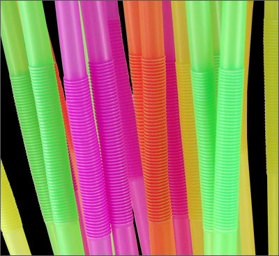 "BarConic® Mammoth Bendy Straws - 17"" - Assorted Neon - Pack of 200"