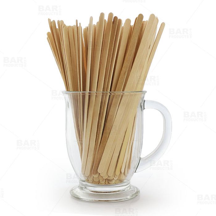 Birch Cocktail / Coffee Stir Sticks - 7 inch - Box of 1000