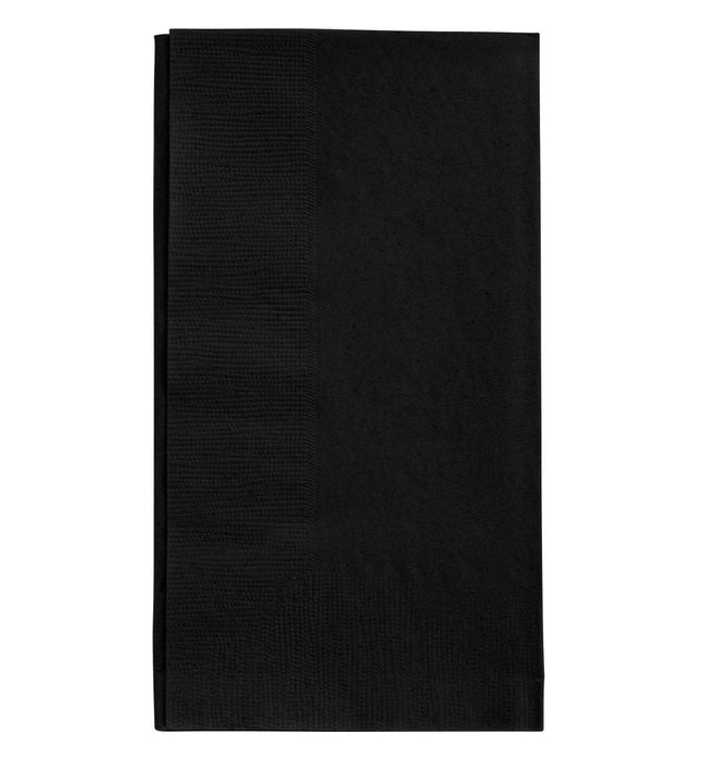 "BarConic® 15"" x 17"" 2-PLY Colored Paper Dinner Napkins – BLACK"