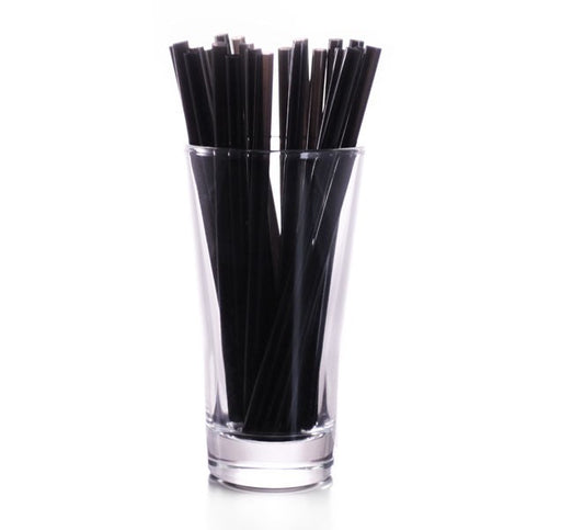 "8"" Black Straws (500 ct)"