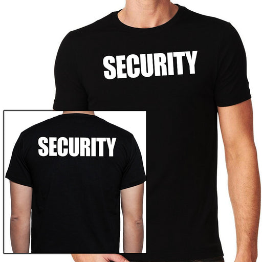 Security T-Shirt, Full Front & Back