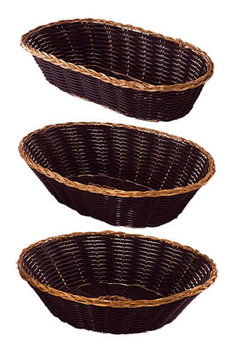 Woven Baskets - Black with Gold Trim