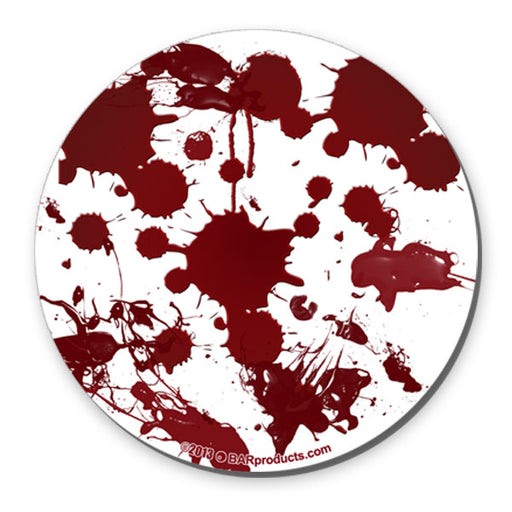 Blood Splatter Foam Kolorcoat™ Coaster - 4 inch Round