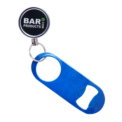Mini Powder Coat Candy Blue Speed Opener with Retractable Reel