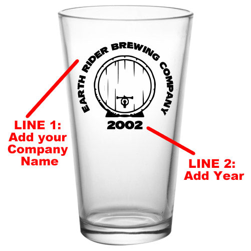 CUSTOMIZABLE - 16oz Pint / Mixing Glass- Brew3