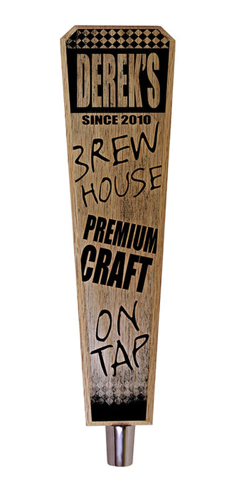 Oak Wood Beer Tap Handles - Flared Shape - Brew House - 10 inch