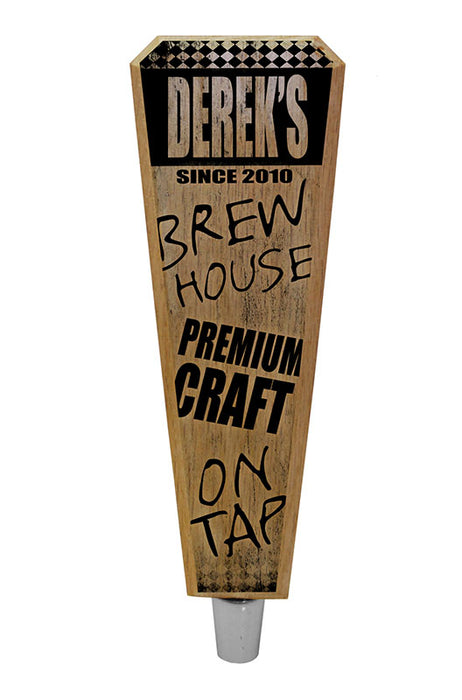 Oak Wood Beer Tap Handles - Flared Shape - Brew House - 8 inch