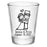 CUSTOMIZABLE - 1.75oz Clear Shot Glass - Cute Bride and Groom