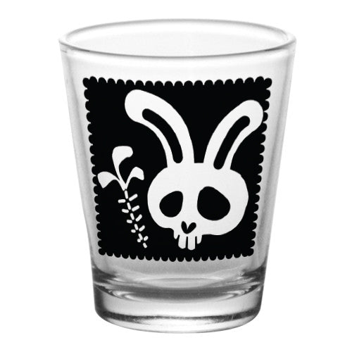 1.75 oz Shot Glass- Cutsey Skulls - Bunny