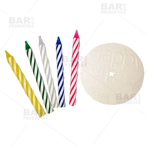 Beverage Candles - 24 pack Birthday