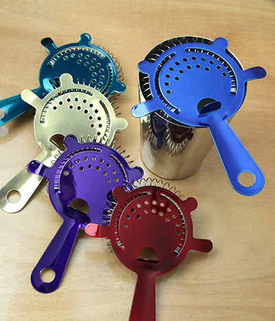 Cocktail Strainer - 4 Prong Candy Coated - Color Options